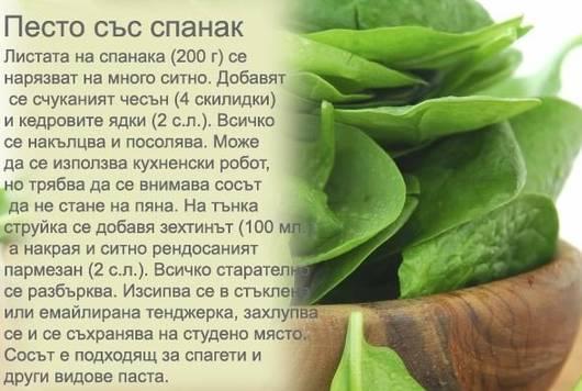 Рецепта за песто със спанак